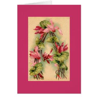 CARTE de NOTE d'alphabet de fleur de Klein MVE