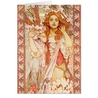 Carte de note d'Alphonse Mucha Jeanne d'Arc