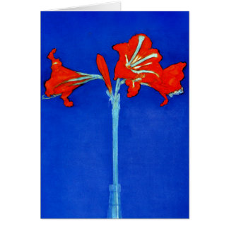 Carte de note d'amaryllis de Mondrian