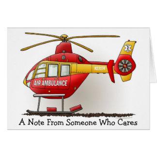 Carte de note d'ambulance d'hélicoptère