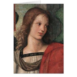 Carte de note d'ange de Noël de Raphael Raffaello