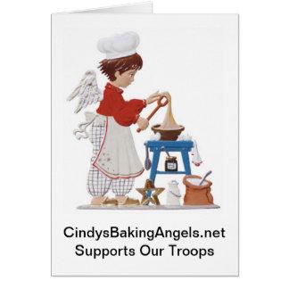 Carte de note d'anges de la cuisson de Cindy