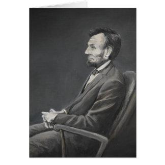 Carte de note d'art de portrait d'Abraham Lincoln