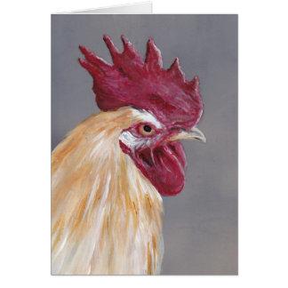 Carte de note d'art d'oiseau de coq de la Floride