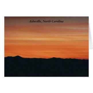 Carte de note d'Asheville, la Caroline du Nord