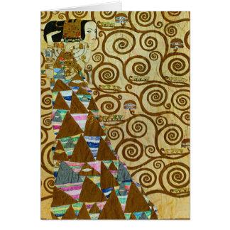 Carte de note d'attente de Gustav Klimt