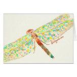 Carte de note de beaux-arts de danse de libellule