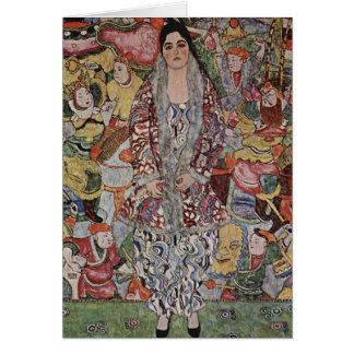 Carte de note de bière de Gustav Klimt Fredericke