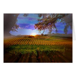 Carte de note de blanc de lever de soleil de