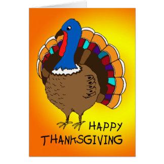 Carte de note de bon thanksgiving