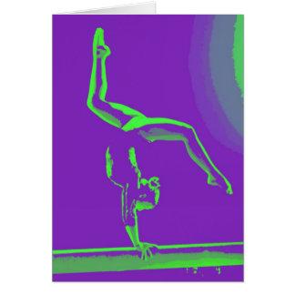 Carte de note de bonne chance de gymnaste