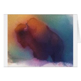 """Carte de note """"de Buffalo américain"""" -"""