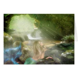 Carte de note de caverne de sirène
