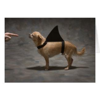 Carte de note de chien de requin