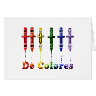 Carte de note de Crayon De Colores avec des