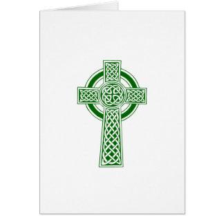 Carte de note de croix celtique personnalisable
