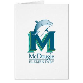 Carte de note de dauphin de McDougle