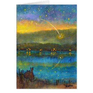 "Carte de note de ""étoile filante"""