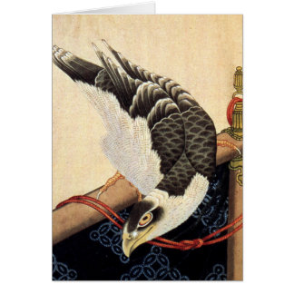 Carte de note de faucon de Hokusai