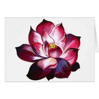 """Carte de note """"de fleur de Lotus"""""""