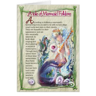 Carte de note de folklore de sirène
