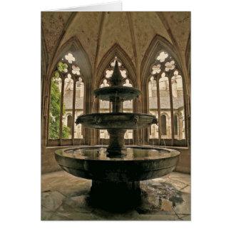Carte de note de fontaine de monastère