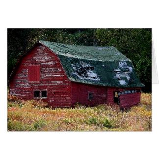 Carte de note de grange d'Adirondack