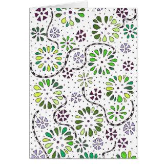 Carte de note de griffonnage de fleur