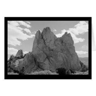 Carte de note de grimpeur de montagne (blanc)