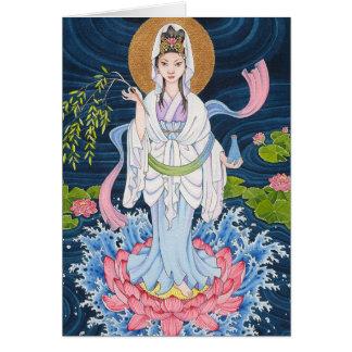 Carte de note de Guan Yin