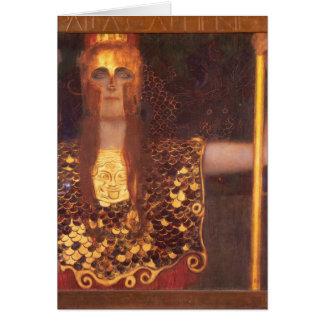 Carte de note de Gustav Klimt Minerva Pallas