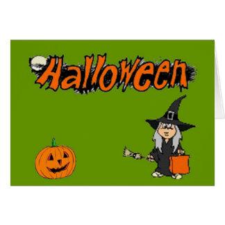 Carte de note de Halloween
