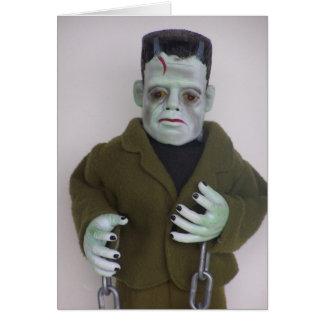 Carte de note de Halloween de monstre de