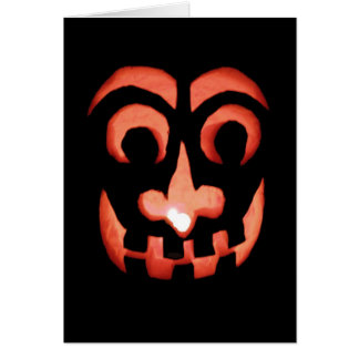 Carte de note de Jack-o'-lantern Halloween