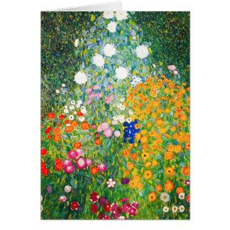 Carte de note de jardin d'agrément de Gustav Klimt