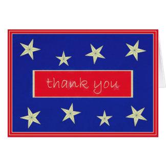 Carte de note de jour de vétérans de Merci