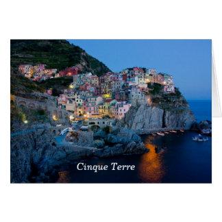 Carte de note de l'Italie
