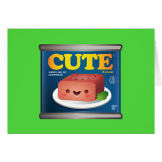 Carte de note de luncheon meat de Kawaii