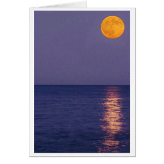 Carte de note de lune de récolte