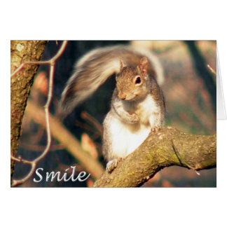 Carte de note de M. Squirrel de sourire