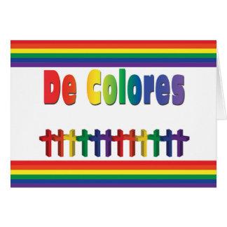 Carte de note de marche de De Colores Crosses pour