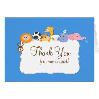 Carte de note de Merci d'animaux de l'arche de Noé