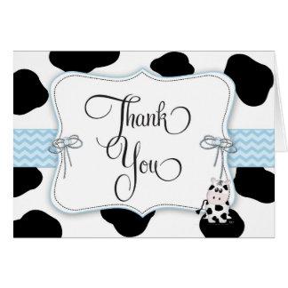 Carte de note de Merci de baby shower de cowboy
