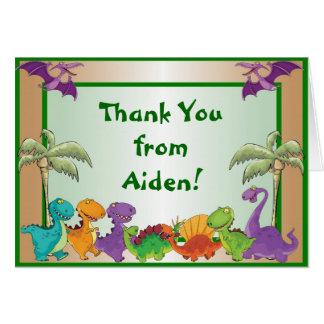Carte de note de Merci de dinosaures