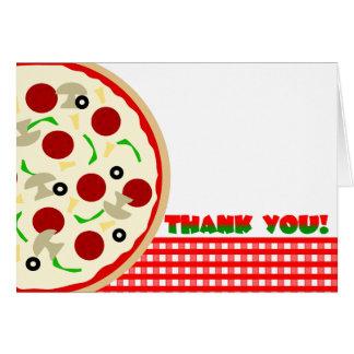 Carte de note de Merci de partie de pizza
