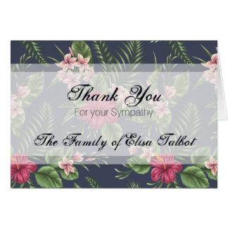Carte de note de Merci de sympathie de ketmie