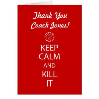 Carte de note de Merci d'entraîneur de volleyball