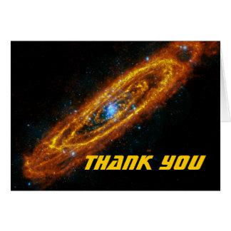 Carte de note de Merci des étoiles de l'Andromeda