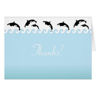 Carte de note de Merci d'orques de Splash'n