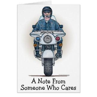 Carte de note de moto de police